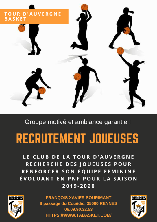 RECRUTEMENT JOUEUSES